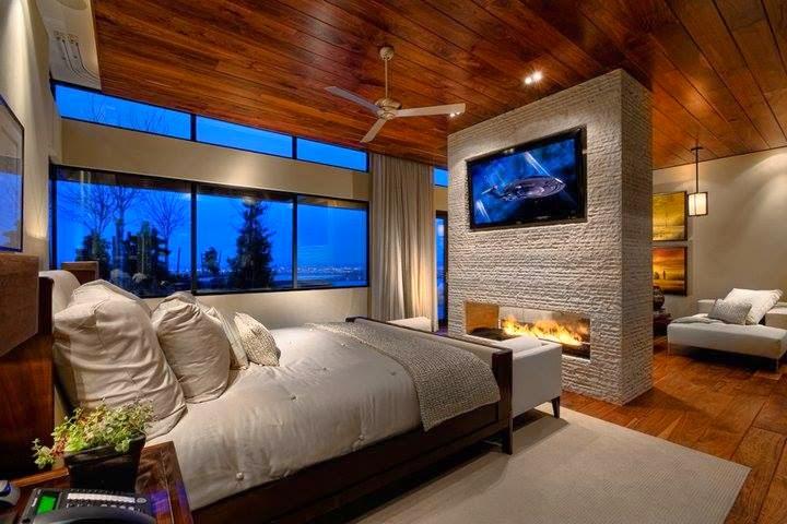 Dormitorios Matrimonio Rustico Moderno : Habitaciones con chimenea dormitorios colores y estilos