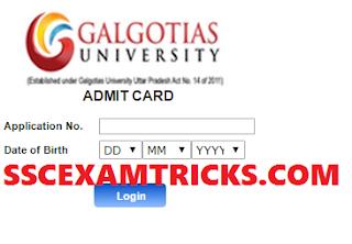 GEEE Admit Card 2015