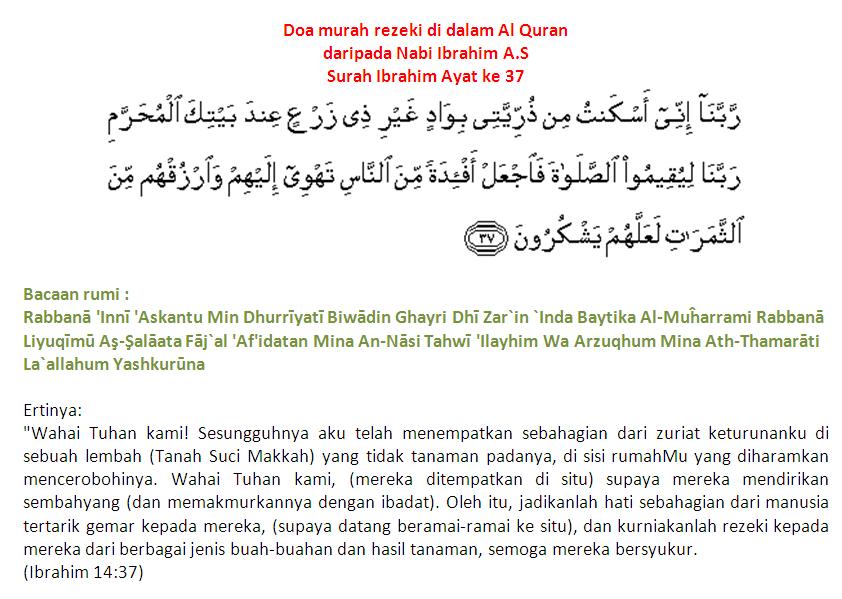 cahayainspirasidotcom: ~Doa Murah Rezeki Di Dalam Al Quran~