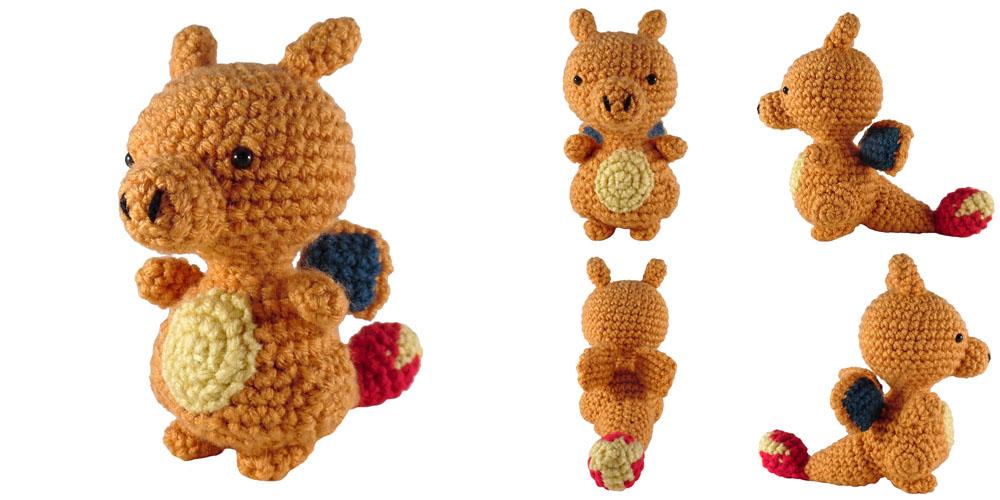 Charizard-Inspired Plushie Pattern | Crochet dragon pattern ... | 500x1000
