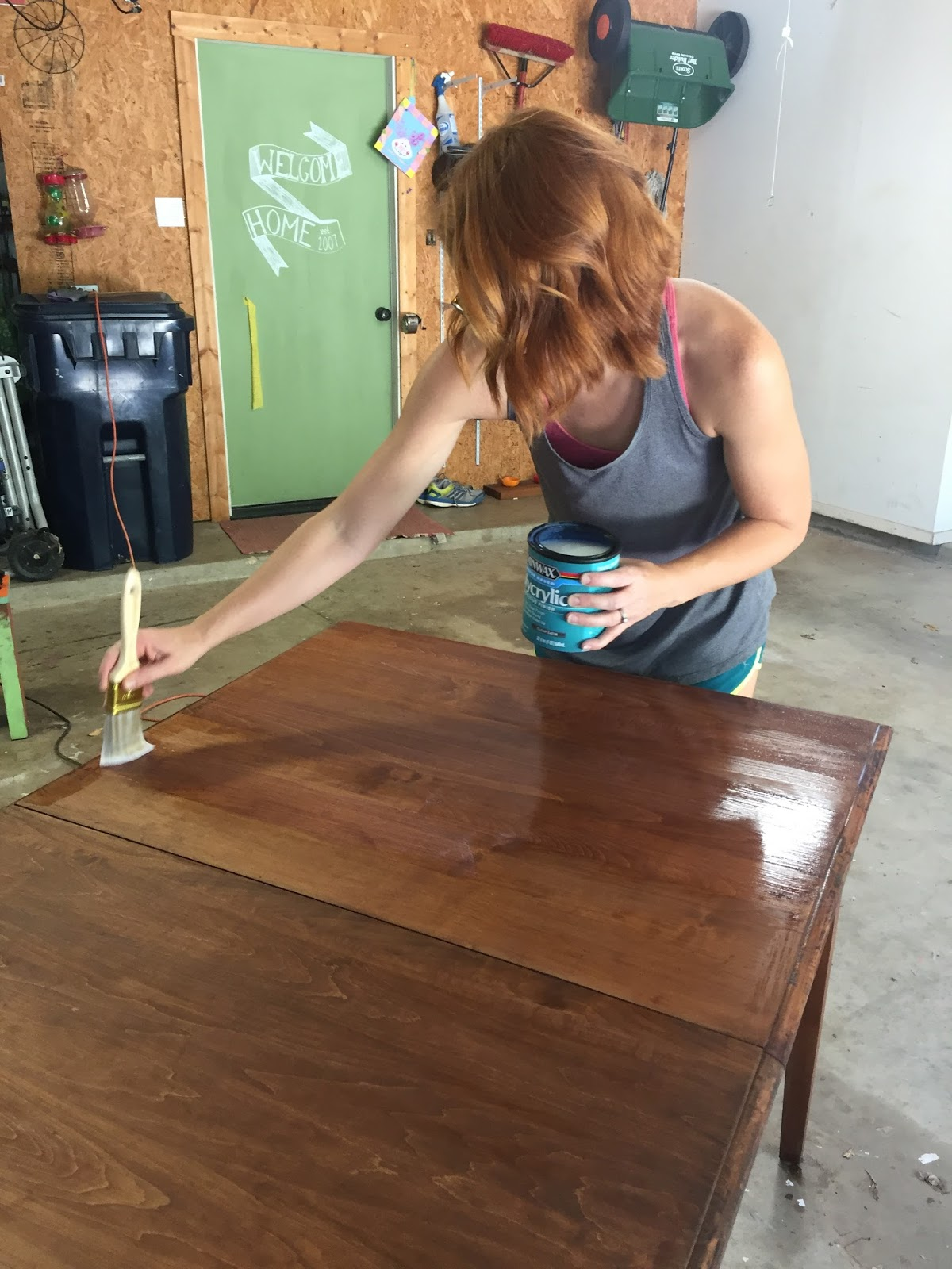 Refinishing our table gave me the look I wanted for our eclectic, casual space. It's an easy, just a little time consuming, project for great reward.
