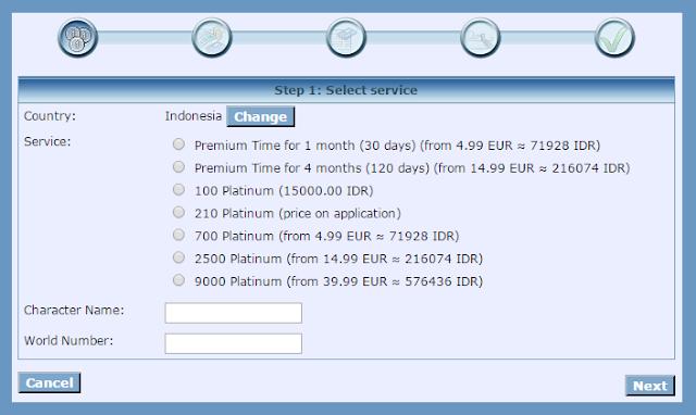 Cara Earn Free Platinum Melalui Website Resmi TibiaME Secara Gratis