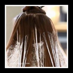 Balayage en cabello oscuro en casa