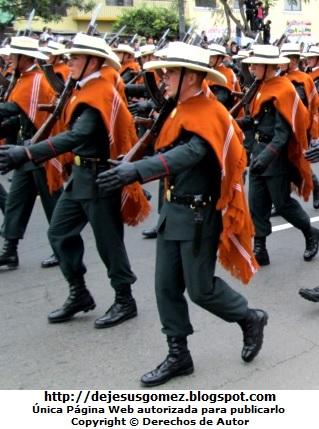 Foto en pleno desfile de la Gran Parada Militar del Perú a color por Jesus Gómez