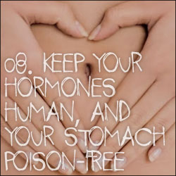 10 Reasons to Become Vegetarian: 08. Keep Your Hormones Human, And Your Stomach Poison-Free