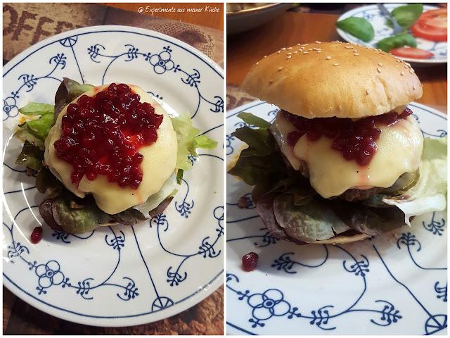 Experimente aus meiner Küche: Cheeseburger mit Preiselbeeren {Burger Time}