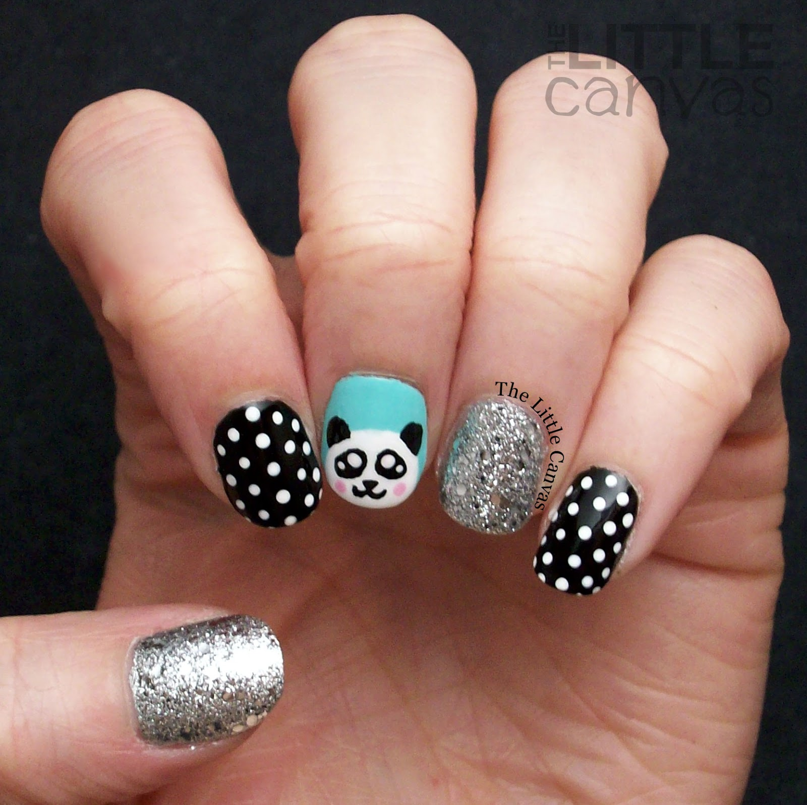 Penguin nail art the little canvas the one with the adorable panda bea prinsesfo Image collections