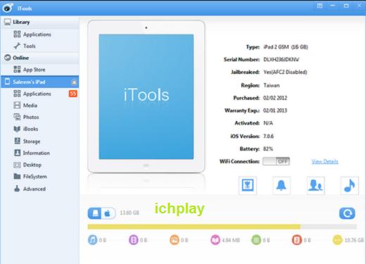Tải iTools Tiếng Việt và English Mới nhất 4.3.2.5 Cho IOS 9 10 11 miễn phí 12
