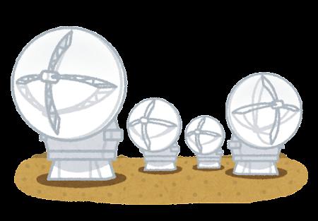 アルマ望遠鏡のイラスト