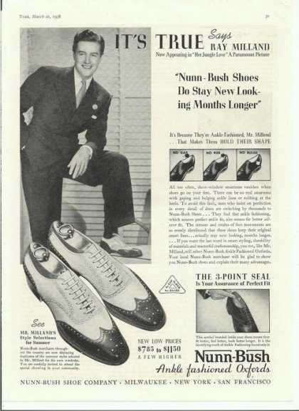 The Shoe Aristocat Vintage Nunn Bush Ad