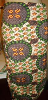 Saia Farm viscose com elastano estampada com cores  laranja,marrom,preto,bege e verde