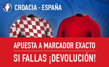 sportium bono 25 euros Eurocopa 2016 España vs Croacia 21 junio