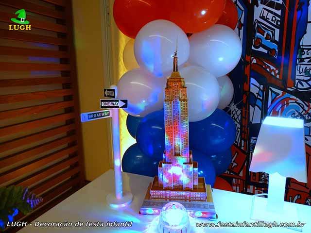 Mesa decorada provençal Nova York - Festa infantil