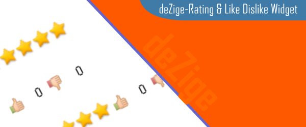 Like Dislike Widget And Star Rating