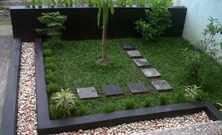 Contoh Gambar Desain Taman Rumah Minimalis 01
