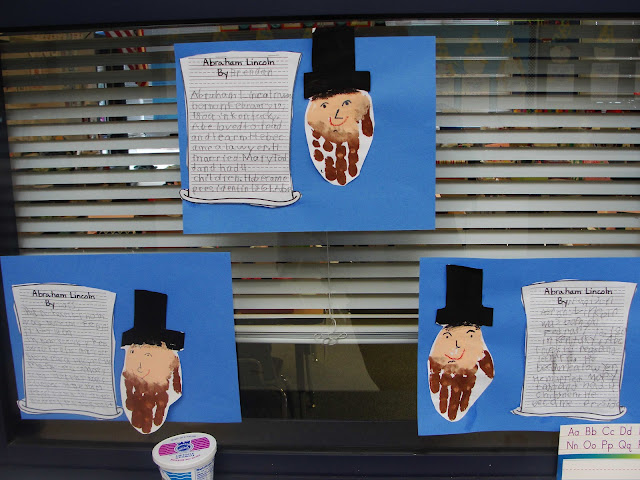 president's day handprint art idea