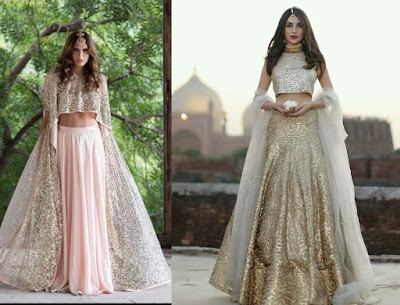 The evergreen Lehengas is the perfect engagement dress for the bride-to-be.