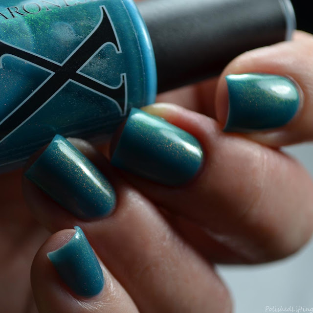 teal unicorn pee nail polish