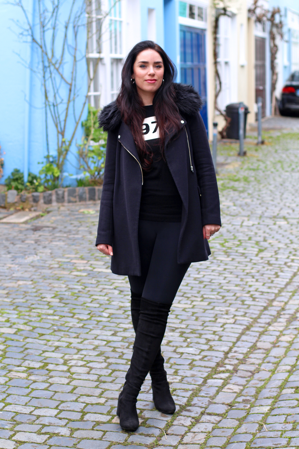 All black outfit, Emma Louise Layla - London style blogger