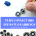 Easy Stud Earrings Tutorial Uses Metal Connectors, Rondelles and Resin Clay