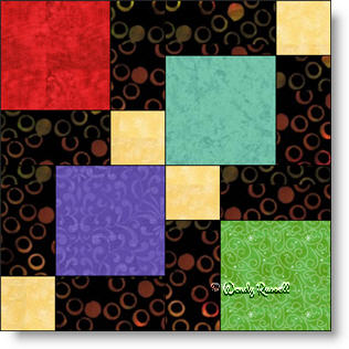 Disappearing Nine Patch quilt block image © Wendy Russell