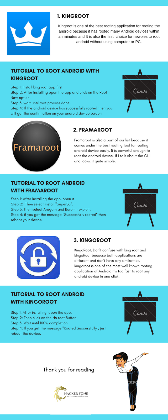 How to Root Android Without Using PC/Computer [Infographics