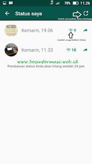 cara update status whatsapp