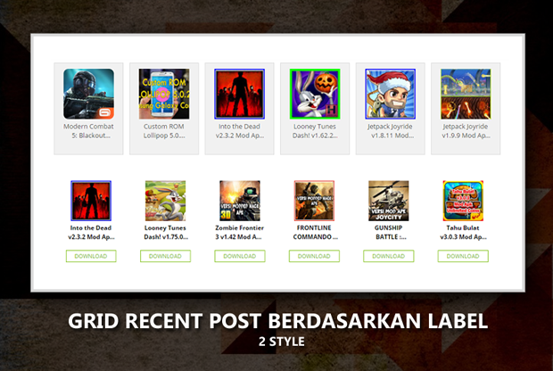 Grid Recent Post Berdasarkan Label