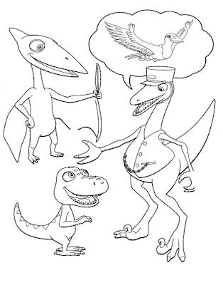 Gambar Mewarnai Dinosaurus - 9
