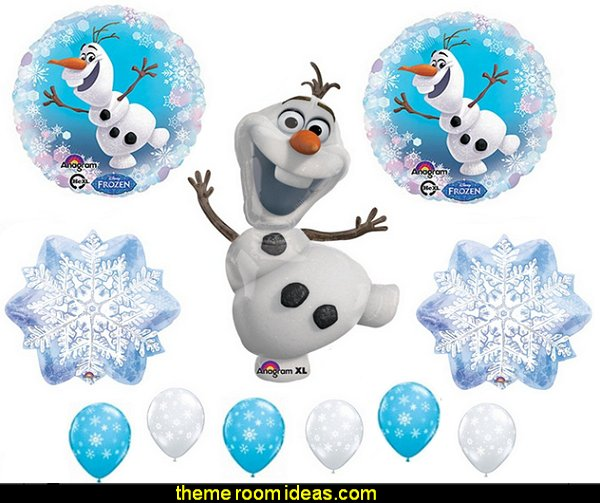 OLAF SNOWFLAKES Balloons Birthday party Decoration Supplies Frozen Elsa