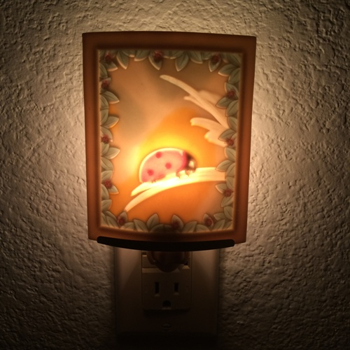 ladybug ceramic nightlight