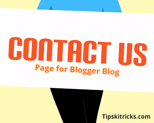 Add Contact Form in Blogger Page