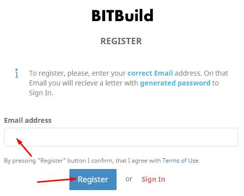 Регистрация в BitBuild 2