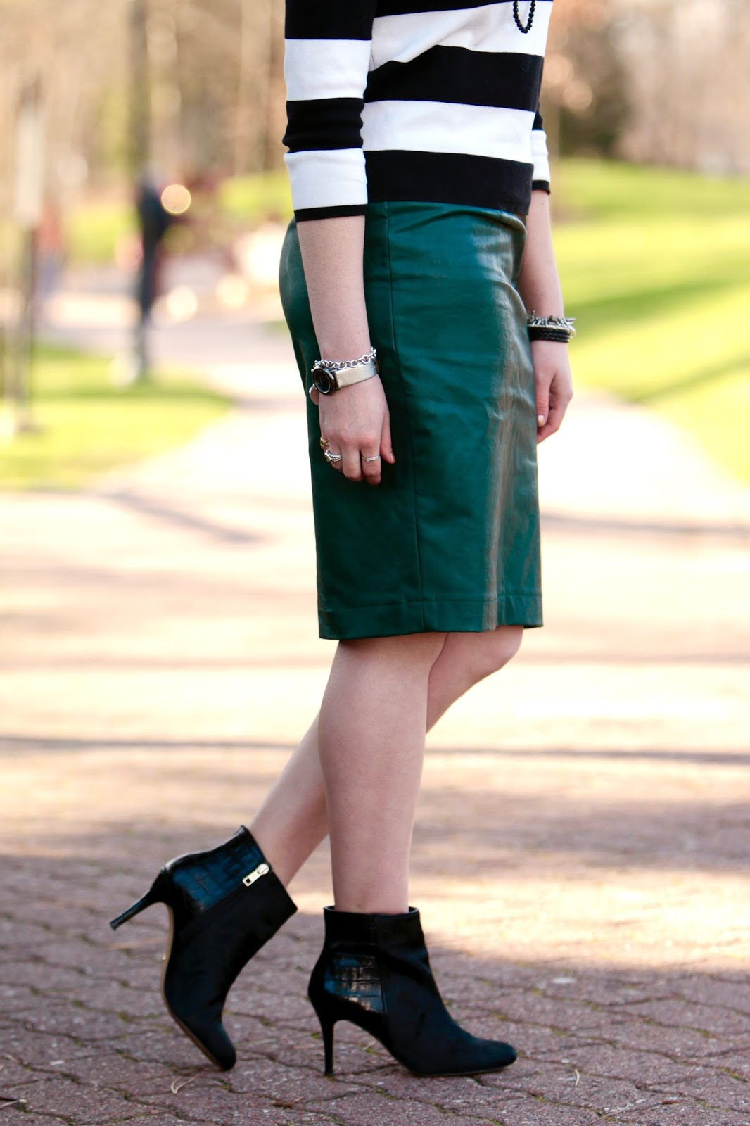 leather skirt spring fall