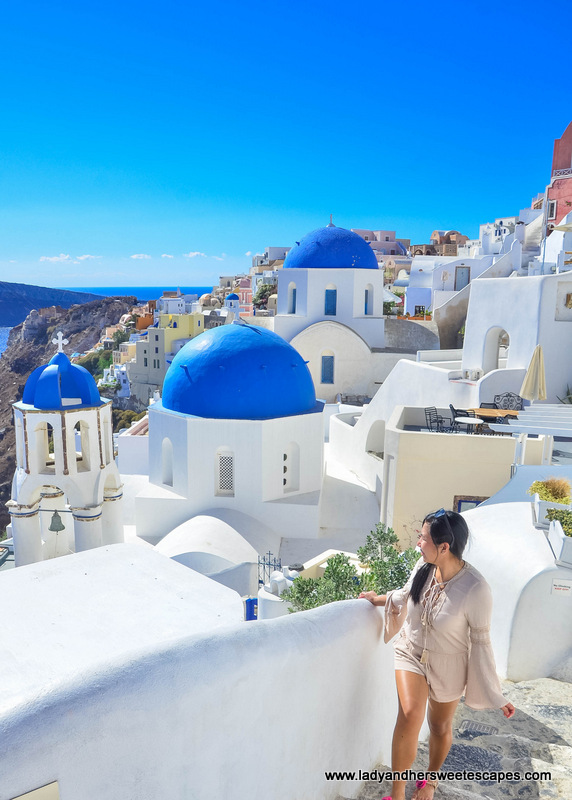 a popular photo spot in Oia