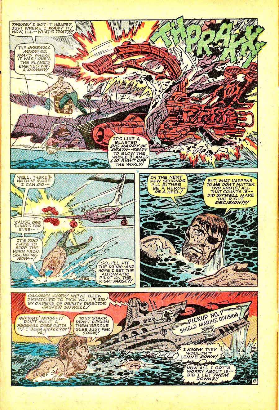 Strange Tales v1 #152 nick fury shield comic book page art by Jim Steranko