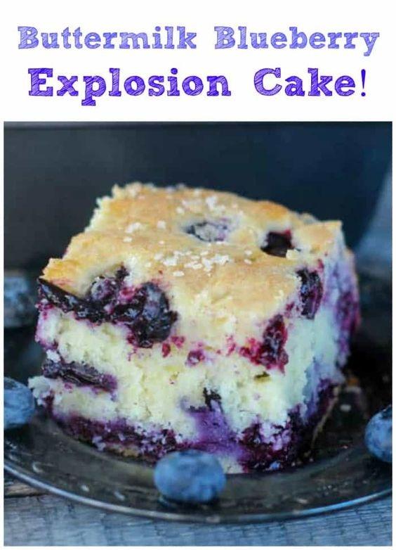 Buttermilk Blueberry Explosion Cake!