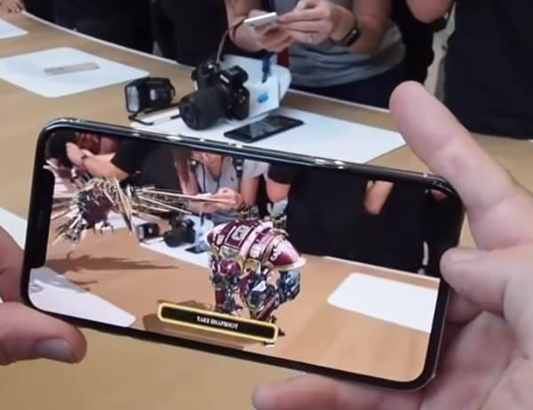 Iphone X cámara realidad aumentada
