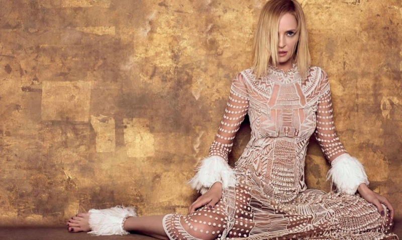 Duchess Dior: Uma Thurman by Xevi Mutane for Harper's ... Uma Thurman About
