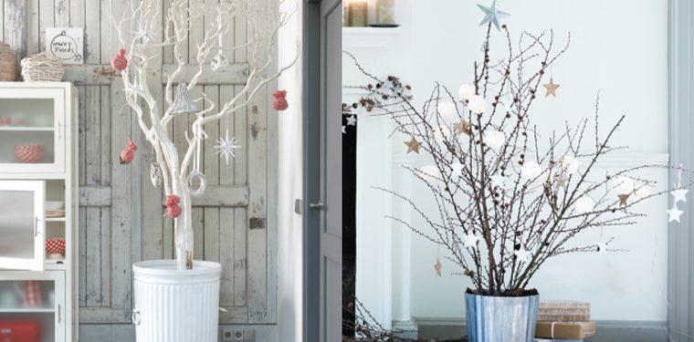 20 Ideas Para Decorar En Navidad Con Ramas Secas Amigos De La - Ramas-de-arboles-para-decoracion