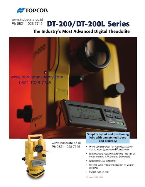 TOPCON DT-200 Series  205 || 205L dan DT 209 Laser