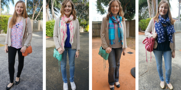 4 ways to wear a jersey blazer with jeans - SAHM Style | away from the blue