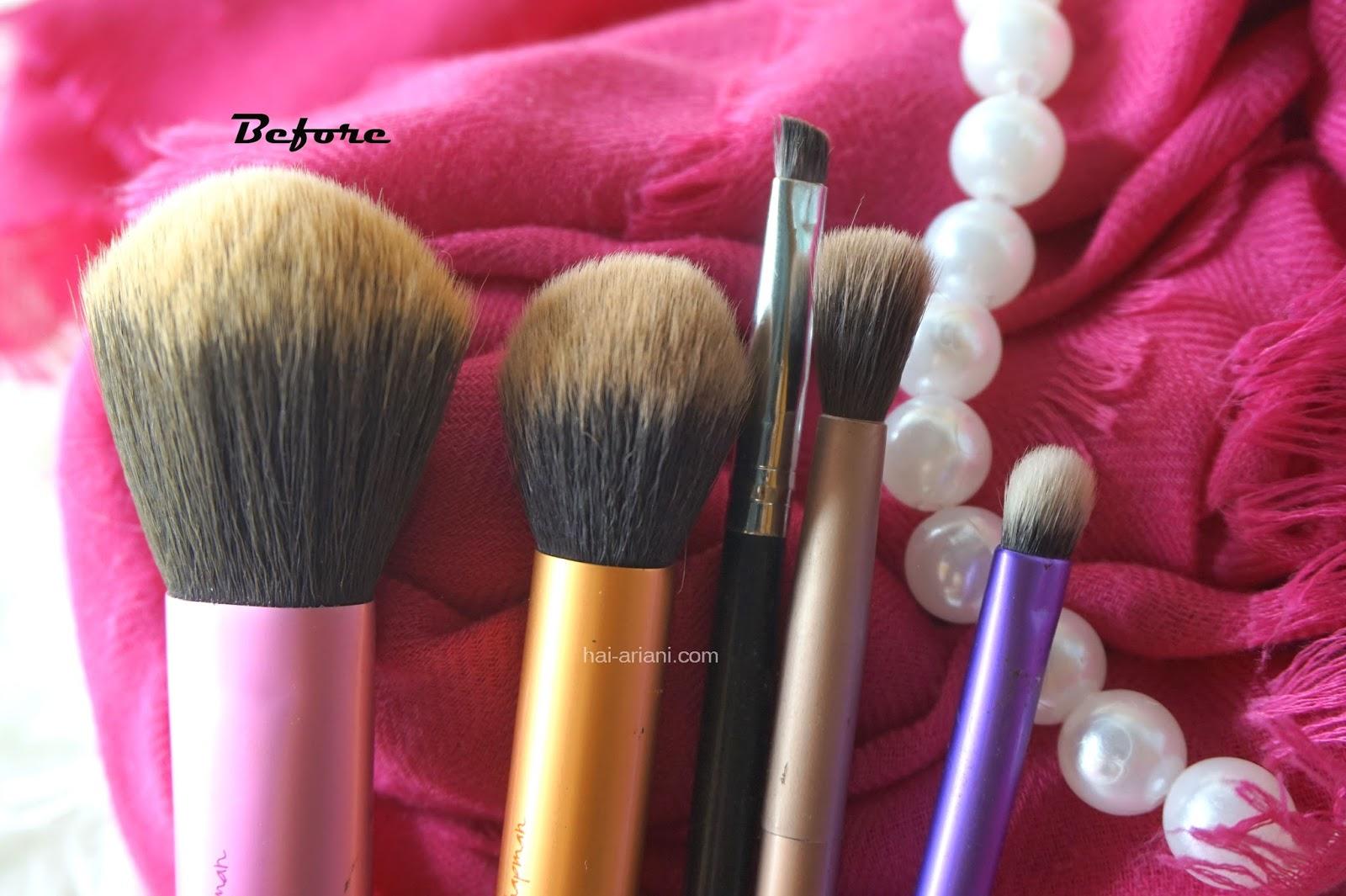 cara membersihkan brush