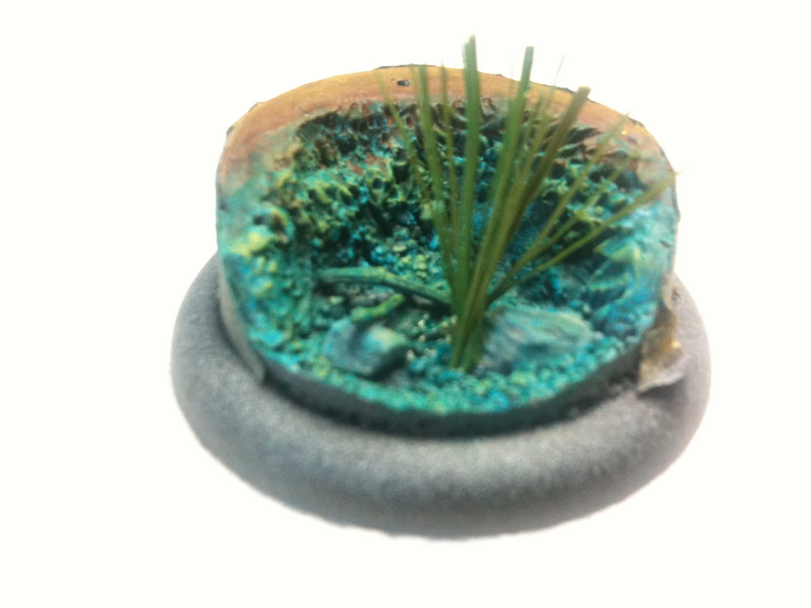 Dodge Miniature Painting Frozen Water Effect Base Wip
