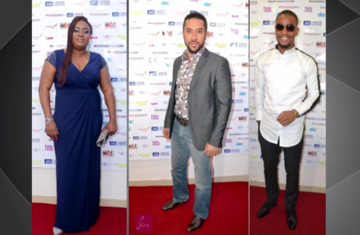 Majid Michel, Uru Eke And Alex Ekubo in London for 'Champagne' Premiere
