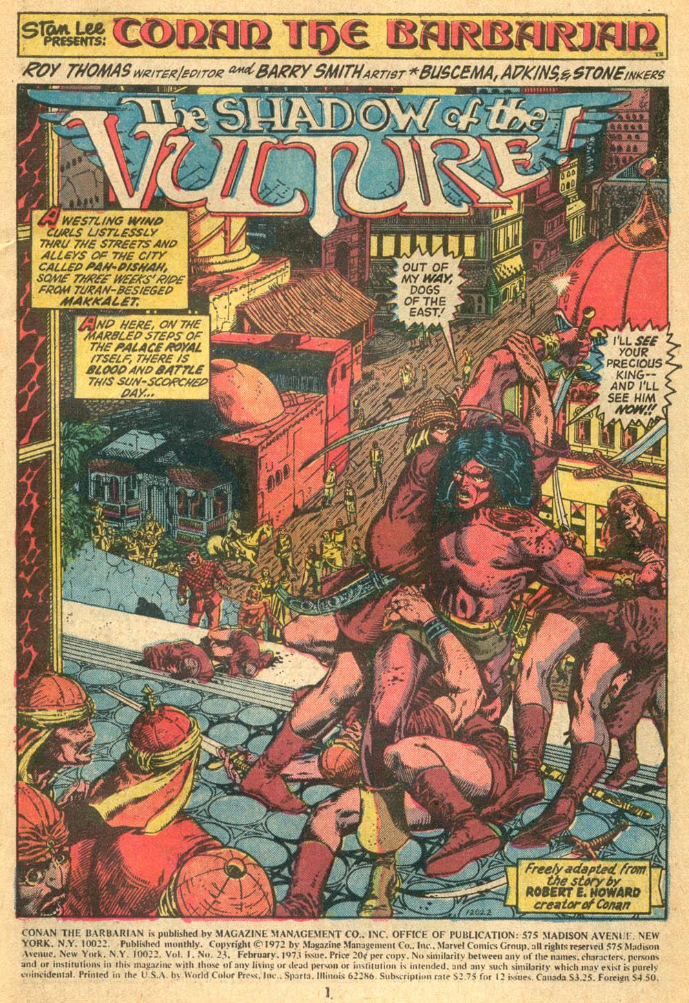 Conan the Barbarian (1970) Issue #23 #35 - English 2