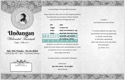 format undangan tasmiyah dan aqiqah word