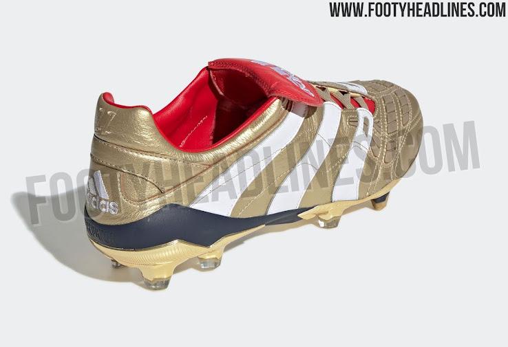 hot sale online 95b45 284e7 Gold Adidas Predator Accelerator Zinedine Zidane 2019 Boots Released ...