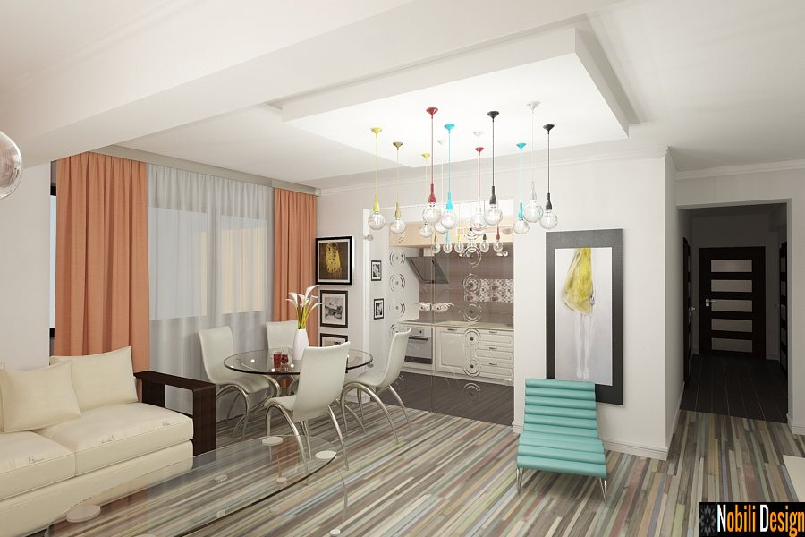 Design interior apartament 3 camere stil modern-Servicii design interior-Arhitect-Amenajari Interioare-Bucuresti, sector 2,