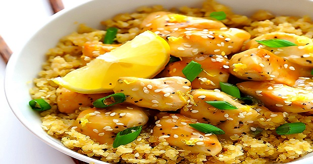 Skinny Honey Lemon Chicken Recipe